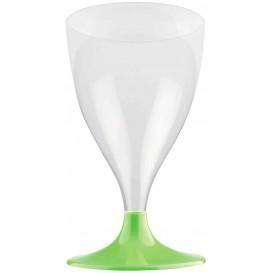 Plastic stamglas wijn limoengroen 200ml 2P (20 stuks)