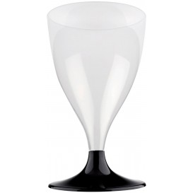 Plastic stamglas wijn zwart 200ml 2P (400 stuks)