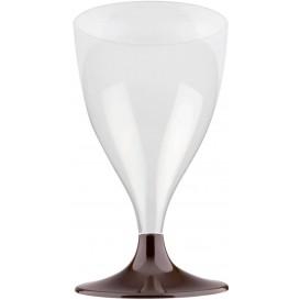 Plastic stamglas wijn bruin 200ml 2P (20 stuks)