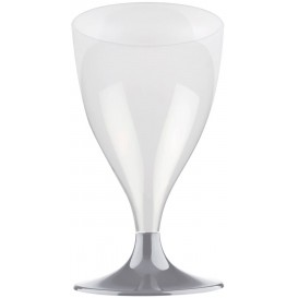 Plastic stamglas wijn grijs 200ml 2P (20 stuks)