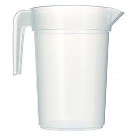 Plastic PP pot Geïnjecteerde glascider transparant 1.000 ml (10 stuks)