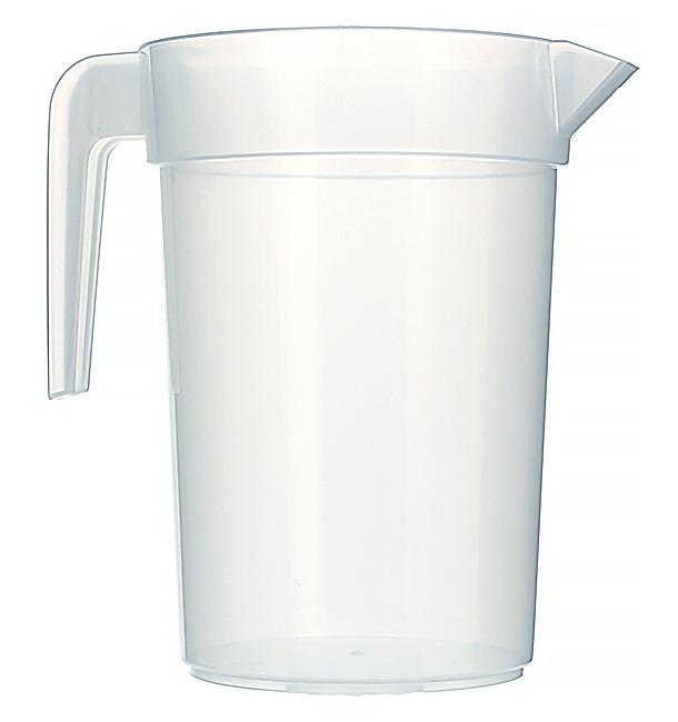 Plastic PP pot Geïnjecteerde glascider transparant 1.000 ml (120 stuks)
