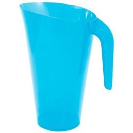 Plastic pot PS Herbruikbaar turkoois 1.500 ml (20 stuks)