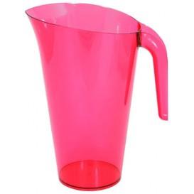Plastic pot PS Herbruikbaar framboos 1.500 ml (1 stuk)