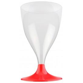 Plastic stamglas wijn rood transparant 200ml 2P (20 stuks)