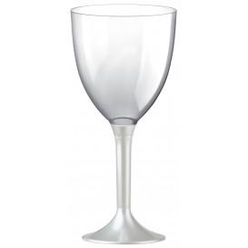 Plastic stamglas wijn wit parel verwijderbare stam 300ml (20 stuks)