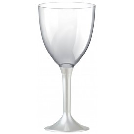 Plastic stamglas wijn wit parel verwijderbare stam 300ml (200 stuks)
