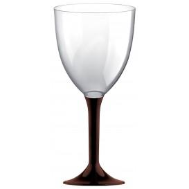 Plastic stamglas wijn bruin verwijderbare stam 300ml (200 stuks)