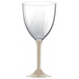 Plastic stamglas wijn beige verwijderbare stam 300ml (200 stuks)