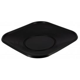 """Plastic bord PP """"X-Table"""" Vierkant zwart 18 cm (8 stuks)"""
