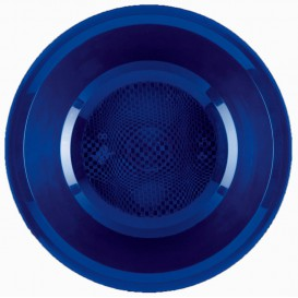 "Plastic bord Diep blauw ""Rond vormig"" PP Ø19,5 cm (50 stuks)"