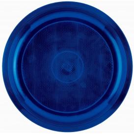 "Plastic bord blauw ""Rond vormig"" PP Ø29 cm (25 stuks)"