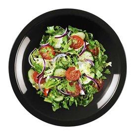 "Plastic bord Diep zwart ""Rond vormig"" PP Ø19,5 cm (600 stuks)"