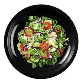 "Plastic bord Plat zwart ""Rond vormig"" PP Ø22 cm (600 stuks)"