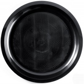 "Plastic bord zwart ""Rond vormig"" PP Ø29 cm (300 stuks)"