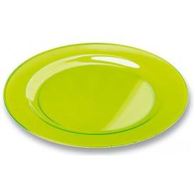 Plastic bord Rond vormig extra sterk groen 19cm (120 stuks)