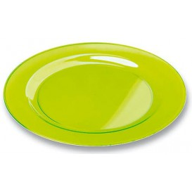 Plastic bord Rond vormig extra sterk groen 26cm (6 stuks)