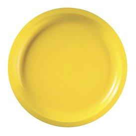 Plato de Plastico Amarillo Round PP Ø290mm (25 Uds)
