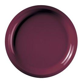 Plato de Plastico Burdeos Round PP Ø290mm (25 Uds)