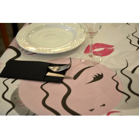 """Voorgesneden papieren tafelkleed """"Kiss"""" 37g 1x1m (400 stuks)"""