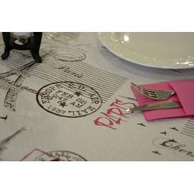 """Voorgesneden papieren tafelkleed """"Paris"""" 37g 1x1m (400 stuks)"""