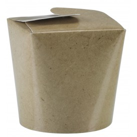 Papieren take-out Container kraft 529ml (50 stuks)