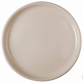 Plato de Plastico para Pizza Beige Round PP Ø350mm (72 Uds)