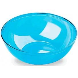 Plastic Kom PS Kristal Hard turkoois 3500ml Ø27cm (20 stuks)