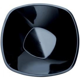 """Plastic Kom PP zwart """"Vierkant"""" 3000ml Ø27,7cm (30 stuks)"""