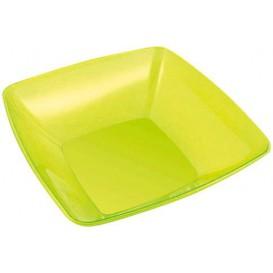 Plastic Kom PS Kristal Hard groen 3500ml 28x28cm (1 stuk)