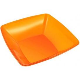 Plastic Kom PS Kristal Hard oranje 3500ml 28x28cm (1 stuk)