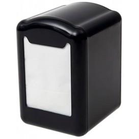 """Servet plastic dispenser """"Miniservis"""" zwart 17x17cm (12 stuks)"""