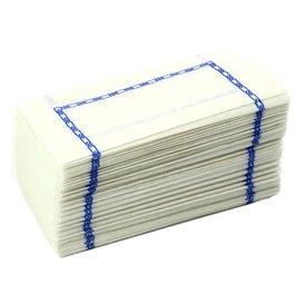 """Papieren servet """"Zigzag"""" Decoratief border wit 14x14cm (300 stuks)"""