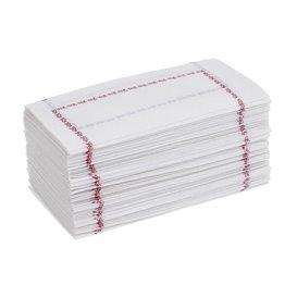"""Papieren servet """"Zigzag"""" blauw 14x14 (250 stuks)"""