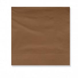 Papieren servet bruine rand 2 laags 30x30cm (4500 stuks)