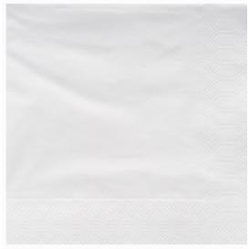 Servilleta de Papel Cenefa 25x25cm Blanca (3600 Uds)