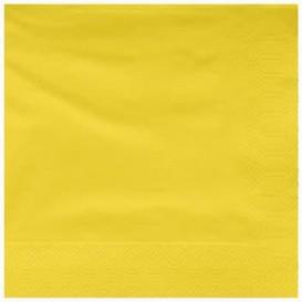 Servilleta de Papel Cenefa 25x25cm Amarillo (100 Uds)
