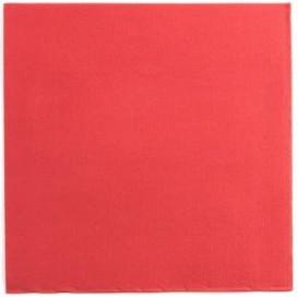 Papieren servet rood 25x25cm 2C (2100 stuks)