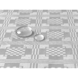 Tafelkleed rol Waterdicht zilver 1,2x5m (1 stuk)
