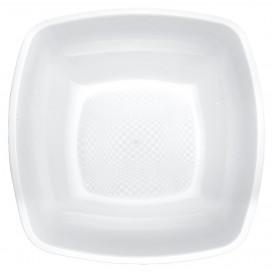 Plato de Plastico Hondo Blanco Square PP 180mm (150 Uds)