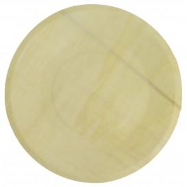 Houten schaal Rond vormig 21,5cm (50 stuks)