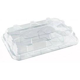Plastic Deksel voor dienblad transparant 35x24cm (25 stuks)