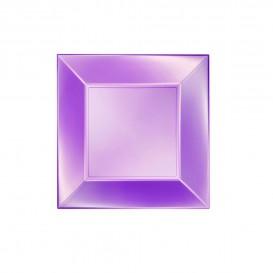 Plato de Plastico Llano Violeta Nice Pearl PP 180mm (150 Uds)