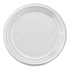 Plastic bord PS Plat transparant Ø22 cm (780 stuks)