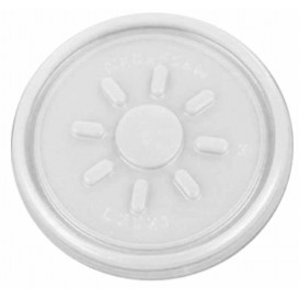 Plastic Deksel PS transparant Plat voor Schuim Container Ø7,4cm (100 stuks)