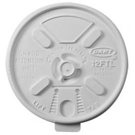 Plastic Deksel PS Hersluitbaar wit Ø8,9cm (1000 stuks)