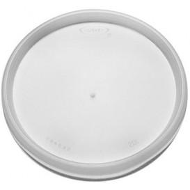 Plastic Deksel PS transparant Plat voor Schuim beker Ø11,7cm (100 stuks)