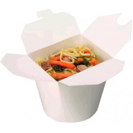 Papieren take-out Container wit 800ml (450 stuks)