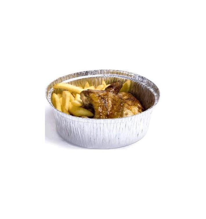 Folie pan voor gebraden kip Rond vormig 1900ml (500 stuks)
