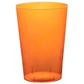 Vaso de Plastico Moon Naranja Transp. PS 230ml (50 Uds)
